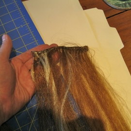 A completed weft
