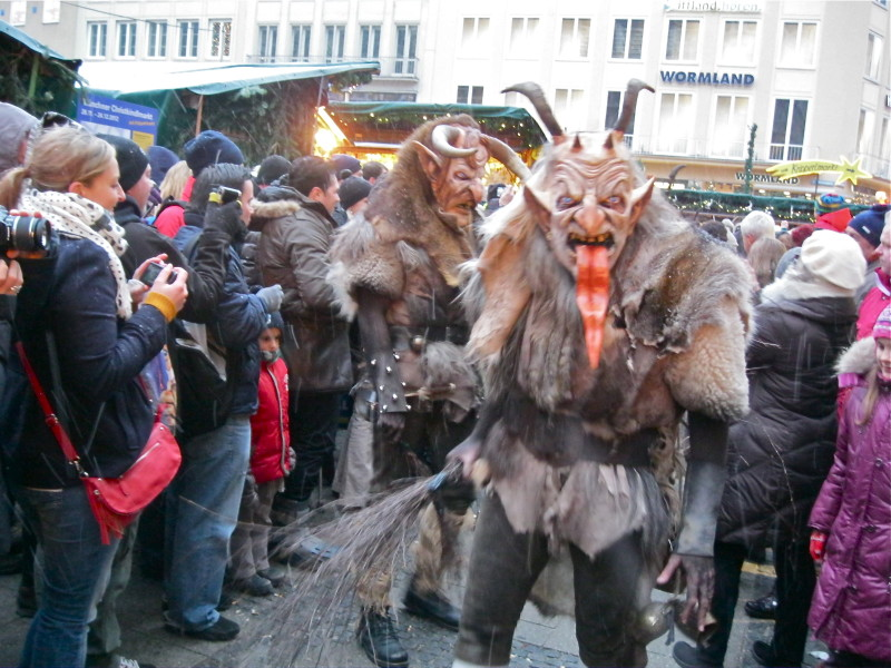 Krampuslauf at Munich Christmas Market