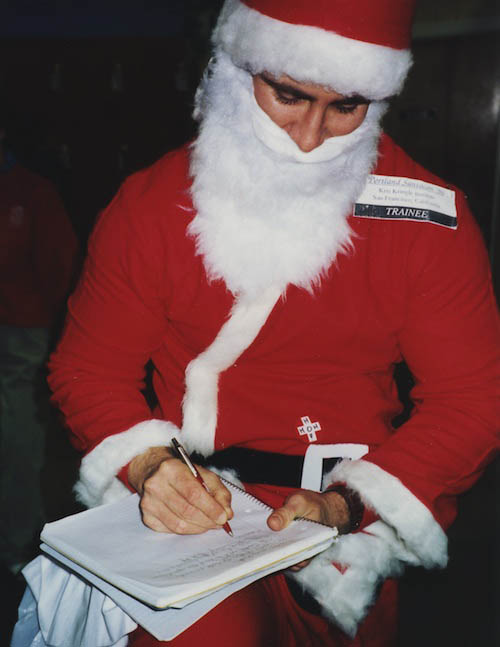 Chuck Palaniuk at Santacon 1996, Portland.