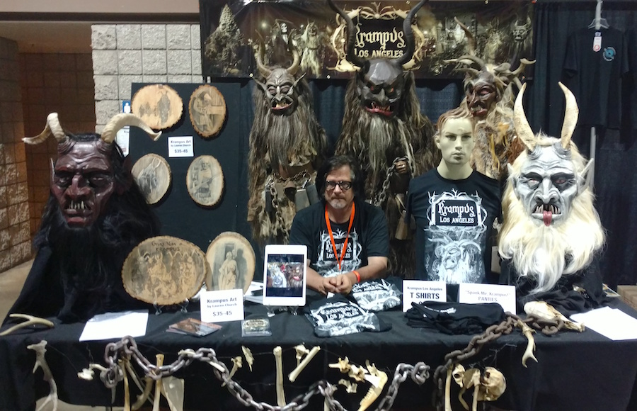 Al Ridenour mans the Krampus LA booth at Midsummer Scream.